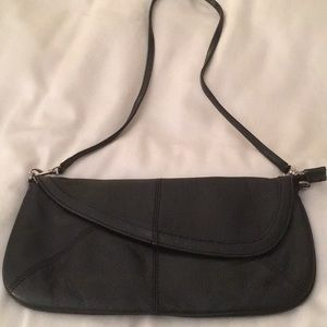 All leather gorgeous shoulder clutch bag